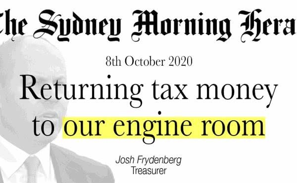Returning tax money to our engine room