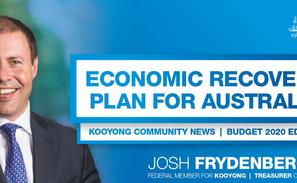 Kooyong Community Newsletter – Budget 2020