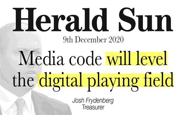 Media code will level the digital playing field