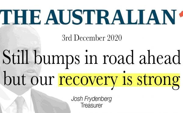 Still bumps in road ahead but our recovery is strong