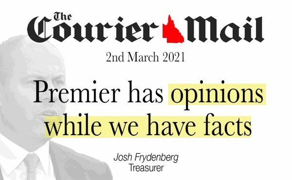Premier has opinions while we have facts