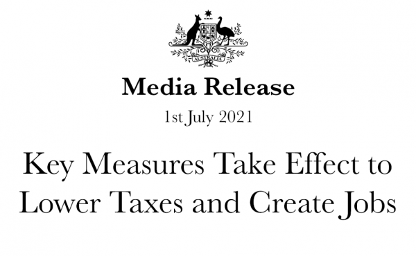 Key Measures Take Effect to Lower Taxes and Create Jobs