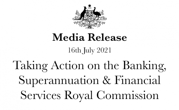 Taking Action on the Banking, Superannuation & Financial Services Royal Commission