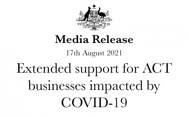 Extended support for ACT businesses impacted by COVID-19