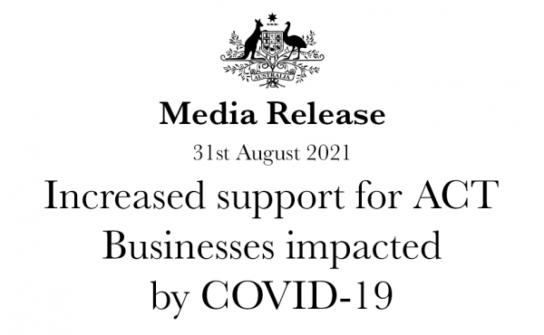 Increased support for ACT Businesses impacted by COVID-19