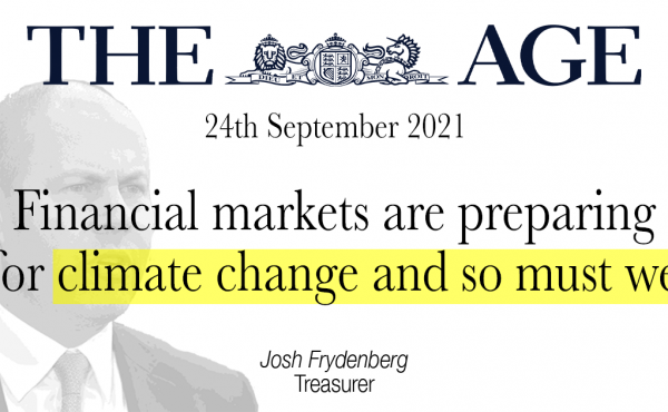 Financial markets are preparing for climate change and so must we