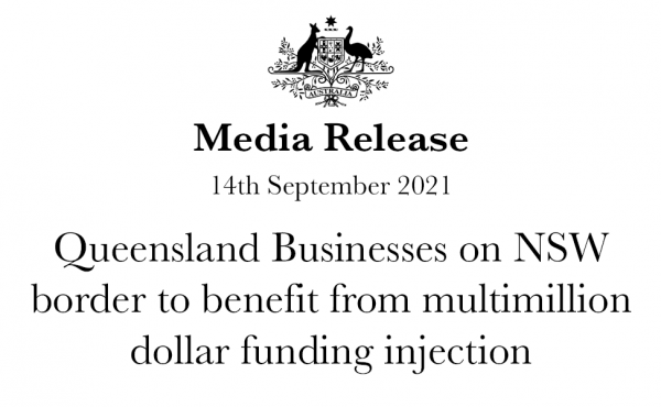Queensland Businesses on NSW border to benefit from multimillion dollar funding injection